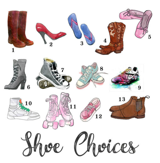 My shoe choices